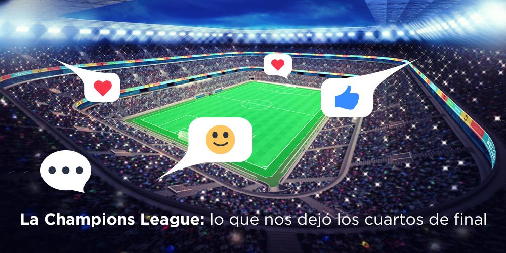Escucha social en cuartos de final de la champions league